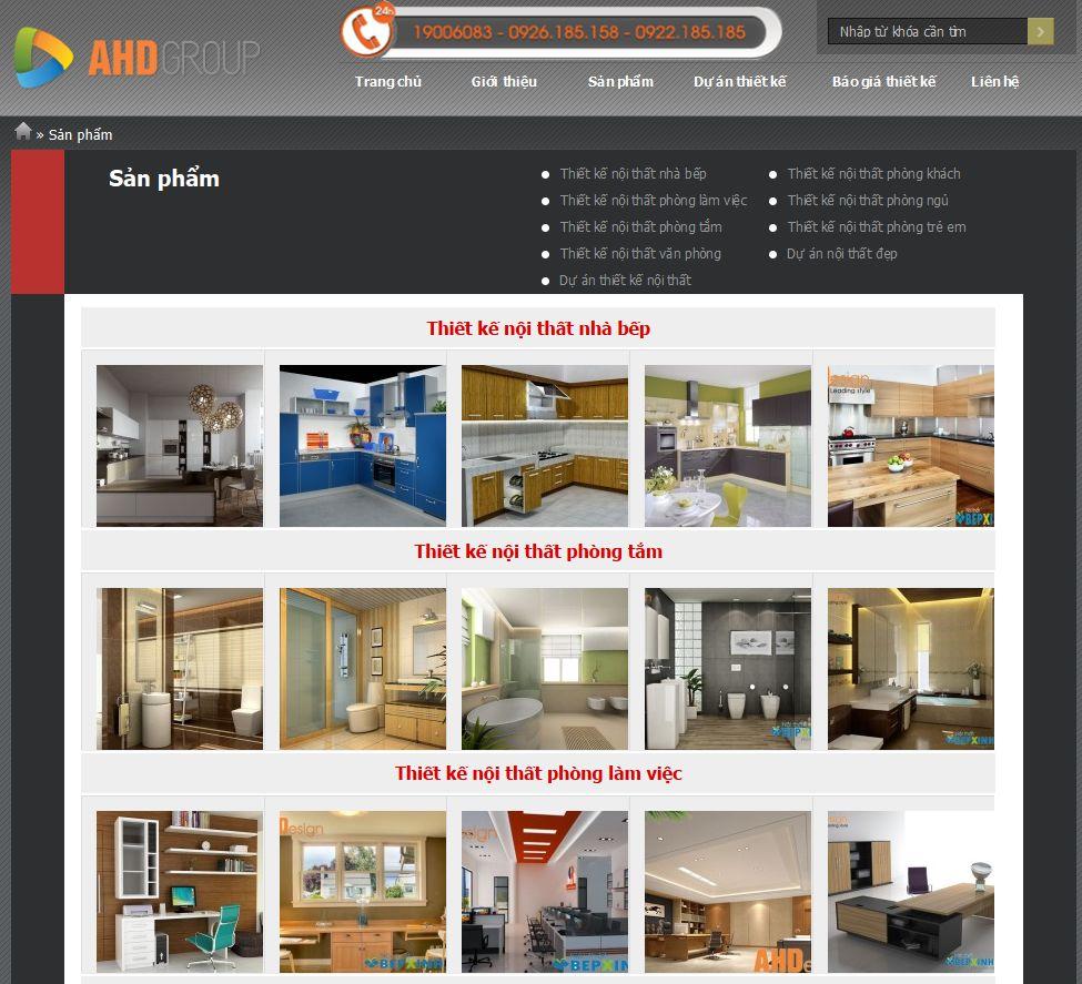 Dự án website congtythietkenoithat.vn