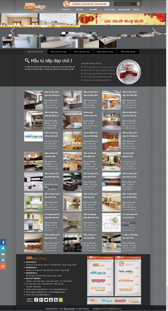 Dự án thiết kế website mautubepdep.org.vn