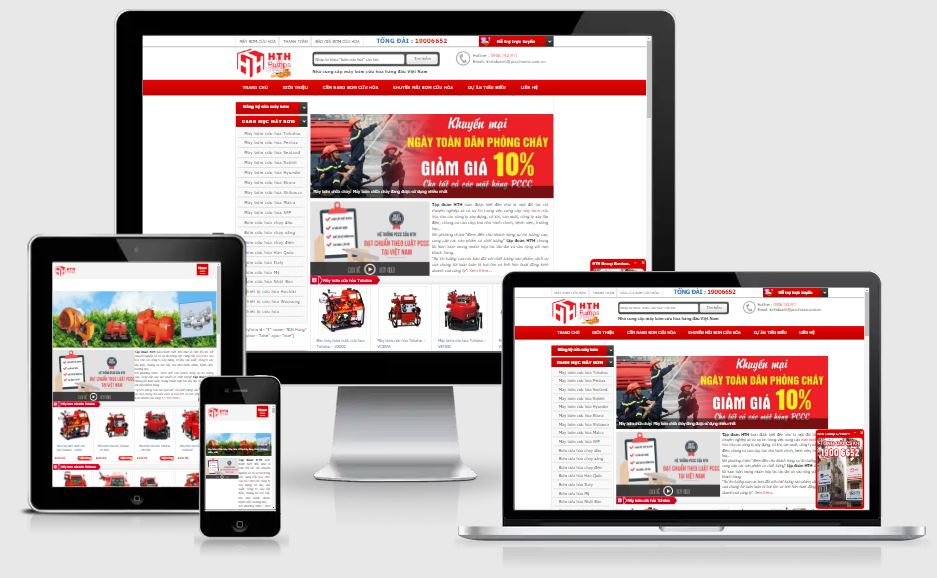Dự án website maybomcuuhoa.com.vn