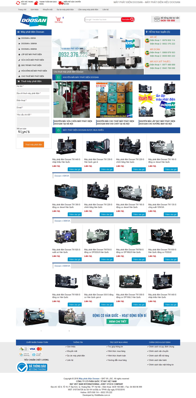 website mayphatdiendoosan.vn
