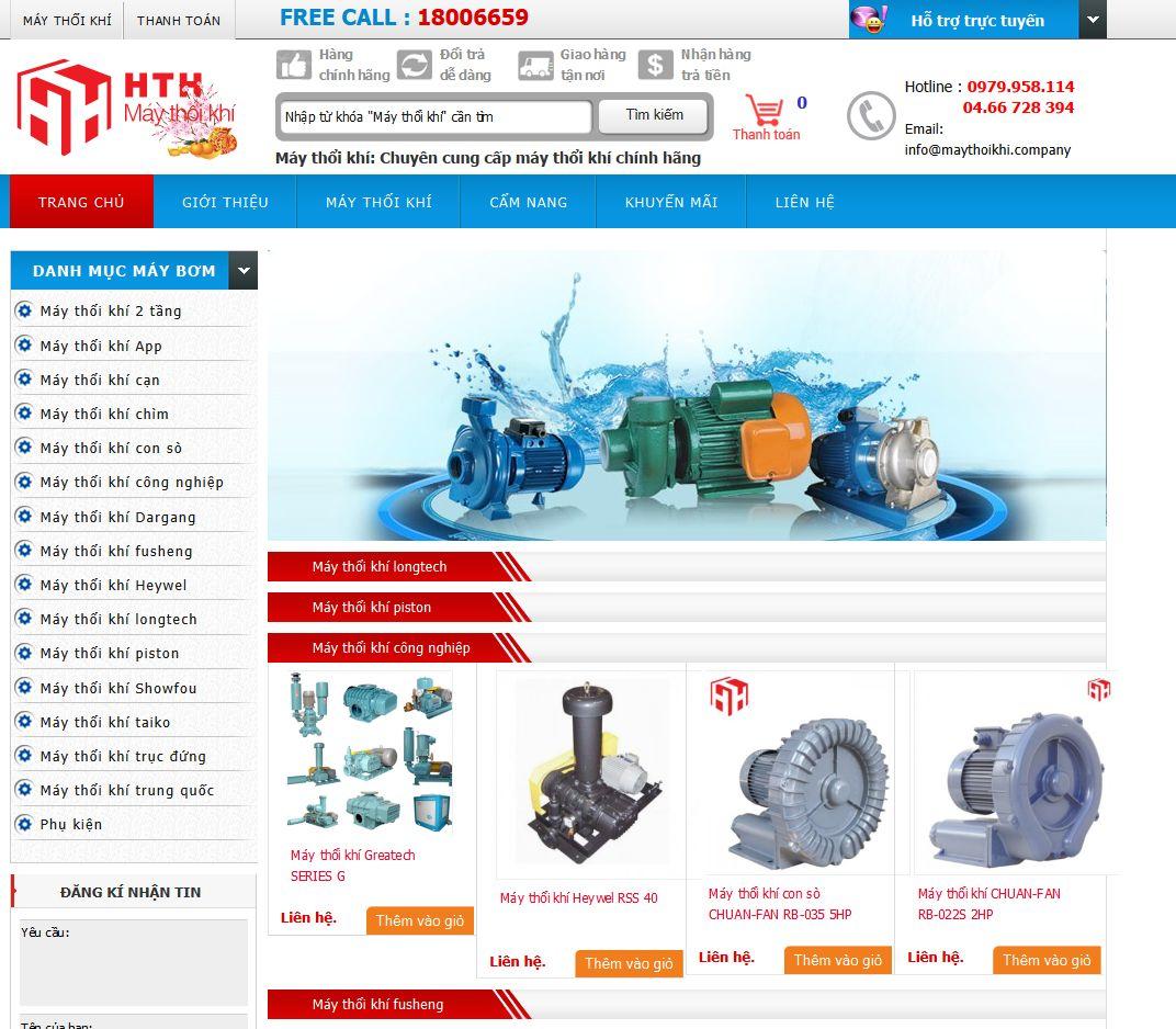 Dự án website maythoikhi.company