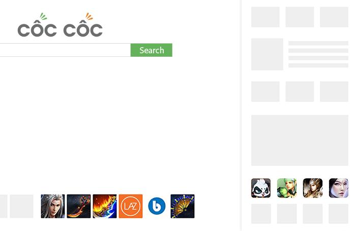 Quảng cáo icon trên Cốc Cốc