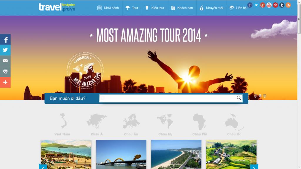 Dự án thiết kế website travel.pro.vn