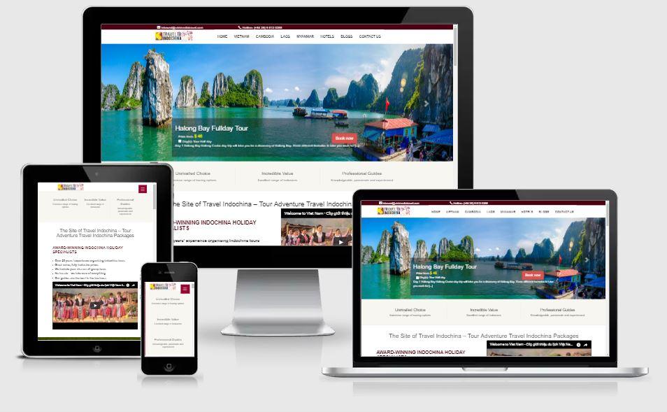 Dự án thiết kế website traveltoindochina.com