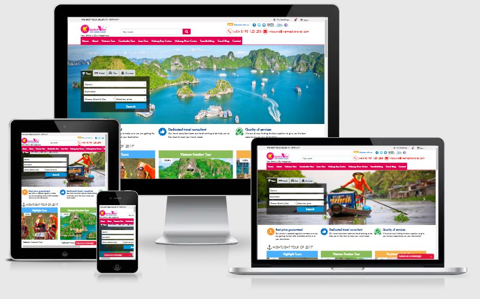 Dự án website vietmediatravel.com