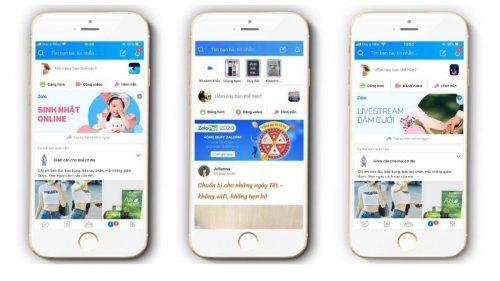 Dịch vụ quảng cáo FeedBAnner, Banner trên Zalo tại Web Media