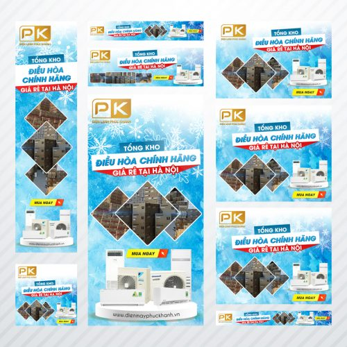Thiết kế banner GDN cơ bản cho công ty Điện Lạnh