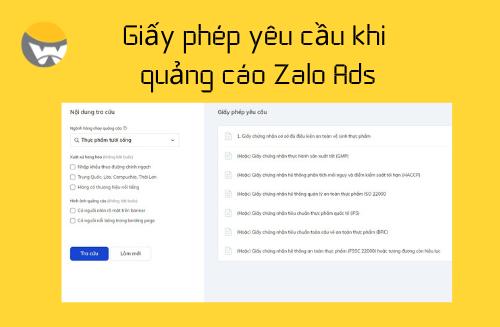 Các giấy phép cần thiết khi quảng cáo trên Zalo Ads thumbnail