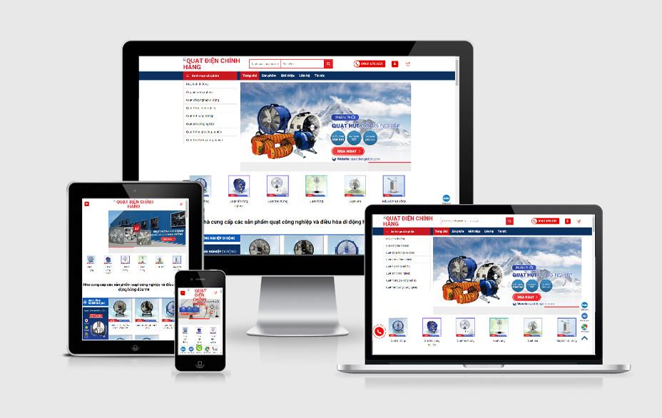 Dự án thiết kế banner, ảnh sản phẩm cho website quatdiengiatot.com