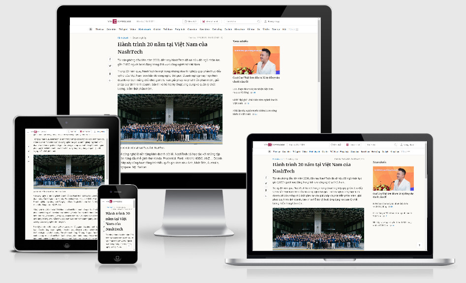 Dự án quảng cáo PR báo điện tử [kinh doanh] NashTech