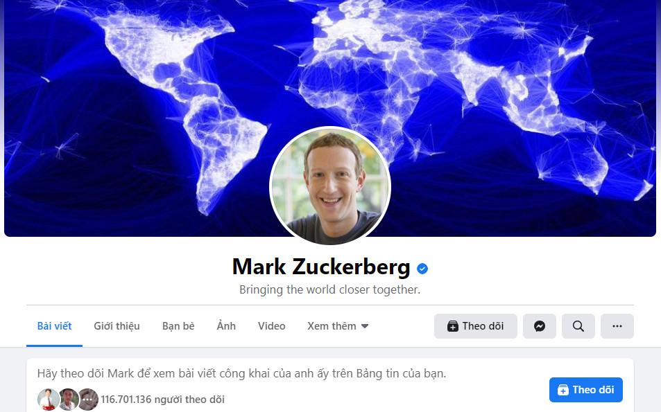 Facebook của Mark Zuckerberg