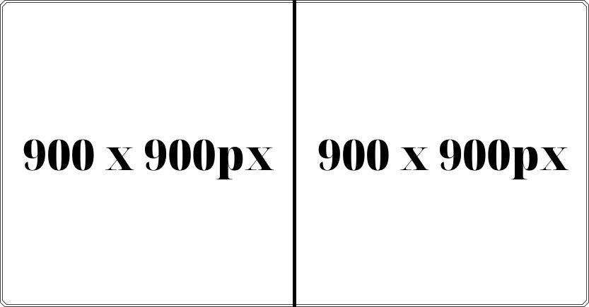 Kích thước ảnh quảng cáo Facebook với 2 ảnh 900 x 900px